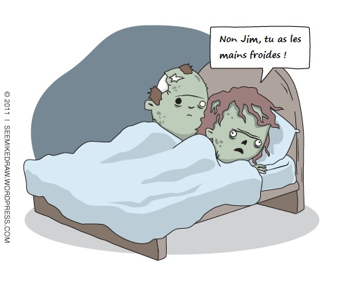 photo drole zombie